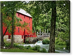 The Mill At Alley Spring Acrylic Print by Cricket Hackmann