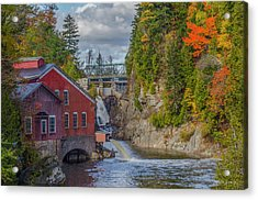 The Mill In Fall Acrylic Print by Roger Lewis