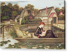 The Mill Acrylic Print by John Roddam Spencer Stanhope