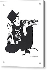 The Mime Acrylic Print