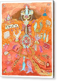 The Mind's Cave Acrylic Print by NeuronDiva Studios