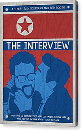 The Minimalist Movie Poster- The Interview Acrylic Print by Celestial Images