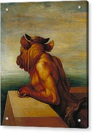 The Minotaur Acrylic Print by George Frederic Watts