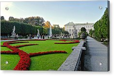 Acrylic Print featuring the photograph The Mirabell Palace In Salzburg by Silvia Bruno