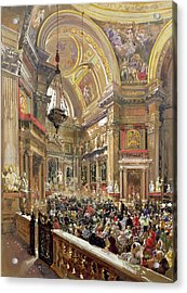 The Miracle Of The Liquefaction Of The Blood Of Saint Januarius Acrylic Print by Giacinto Gigante