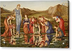 The Mirror Of Venus Acrylic Print by Edward Burne-Jones