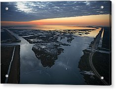 The Mississippi River Gulf Outlet Acrylic Print by Tyrone Turner
