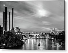 The Mississippi River Night Scene Acrylic Print