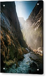 The Mist Trail Acrylic Print by Ralph Vazquez