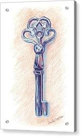 The Mistress' Key Acrylic Print by Anita Carden