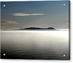 The Mists Of Pic Island Acrylic Print by Laura Wergin Comeau