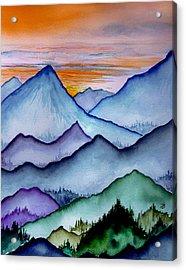 The Misty Mountains Acrylic Print