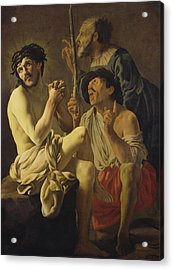 The Mocking Of Christ  Acrylic Print by Hendrick Ter Brugghen