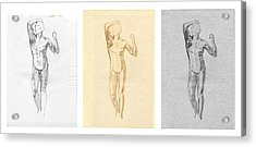The Modern Age - Triptych - Homage Rodin  Acrylic Print