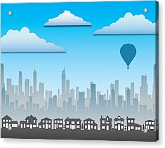 Acrylic Print featuring the photograph The Modern City by Anthony Citro