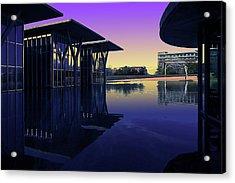 Acrylic Print featuring the photograph The Modern, Fort Worth, Tx by Ricardo J Ruiz de Porras