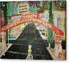 the Modesto Arch  Acrylic Print by James Christiansen