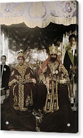 The Monarchs Haile Selassie The First Acrylic Print by W. Robert Moore