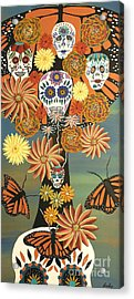 The Monarch's Tree Of Life And The Dead - Day Of The Dead Acrylic Print