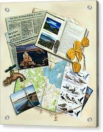 The Mono Lake Story Trompe L'oeil Acrylic Print by Logan Parsons