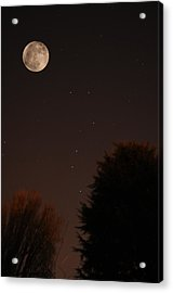 The Moon And Ursa Major Acrylic Print