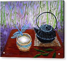 The Moon In A Teacup Acrylic Print by Laura Iverson