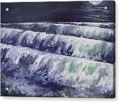 The Moon Is A White Whale Acrylic Print by Diane Daigle