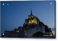 Moonrise Over Mont Saint-michel Acrylic Print by Ning Mosberger-Tang