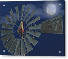 The Moon Spinner Acrylic Print by Wendy J St Christopher
