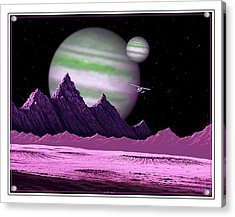 Acrylic Print featuring the digital art The Moons Of Meepzor by Scott Ross