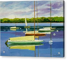 The Moorings Acrylic Print by David Rickert