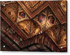 Acrylic Print featuring the photograph The Morgan Library Ceiling by Jessica Jenney