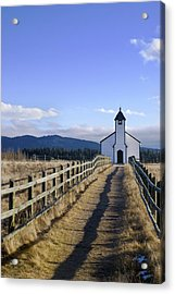The Morley Church, Alberta, Canada Acrylic Print by Philippe Widling