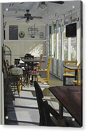 The Morning Paper Acrylic Print by Rebecca Zook