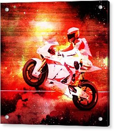 The Morotbike Acrylic Print by Contemporary Art