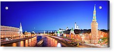 Moskva River Acrylic Print by Delphimages Photo Creations