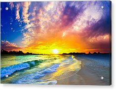 Acrylic Print featuring the photograph The Most Beautiful Sunset In The World by Eszra Tanner