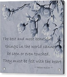 Acrylic Print featuring the mixed media The Most Beautiful Things In The World by Movie Poster Prints