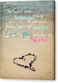 The Most Beautiful Things Acrylic Print