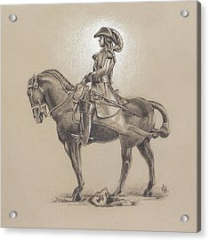 Acrylic Print featuring the drawing The Most Illustrious John Churchill, First Duke Of Marlborough by Joe Winkler