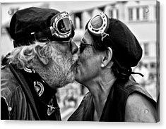 The Motard Kiss Acrylic Print