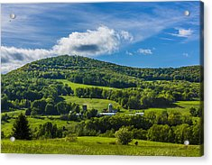 Acrylic Print featuring the photograph The Mountain And Sky Landscape by Paula Porterfield-Izzo