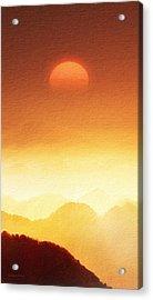 The Mountains  Acrylic Print