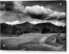 The Mountains Of Western North Carolina In Black And White Acrylic Print by Greg Mimbs