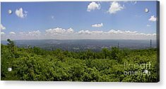 The Mountains Top View Panorama II Acrylic Print by Daniel Henning