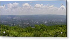 The Mountains Top View Panorama Xii Acrylic Print by Daniel Henning