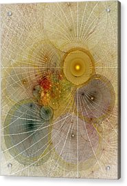 The Mourning Of Persephone - Fractal Art Acrylic Print