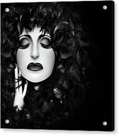 The Mourning - Self Portrait  Acrylic Print