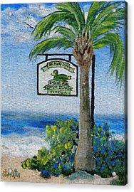 The Mucky Duck Captiva Island Florida Acrylic Print by Annie St Martin