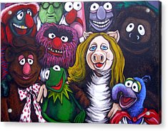 The Muppets Tribute Acrylic Print by Sam Hane